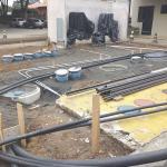 Instalação de tanques de combustíveis subterrâneos